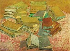 Schilderij Stilleven Franse romans