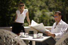 Radium Palace - Coffee on terrace