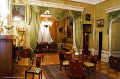 Wilanów Palace, Poland - Empire style Bedroom.