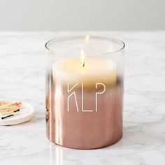 Personalised Initials Copper Ombre Candle Holder - Whether you're buying for a friend, your partner, your mother or your daughter, it's important to get her a gift that she'll really treasure.