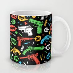 """""""Say Hello To My Little Friend"""" Mug by Tim Easley on Society6."""