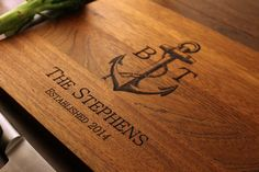 ON SALE Personalized Nautical Cutting Board with by ButchersBlocks