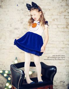 Mini Rodini dress and Hucklebones headband at Shan and Toad for winter 2014 kidswear