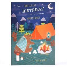 Birthday Card - Camping Bear Adventure
