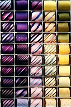 This is a Great Way to Store Your Ties Gentlemen, Rolled! You don't end up with a broken lining or fold line if done in this manner. While on the subject of Ties, DO NOT DRY CLEAN THEM,they press them flat & they want to flip & lining shrinks,Spot Clean or if it's a light spot just scratch your fingernail back-&-forth in different directions, generally this will take care of a lighter spot, if not try Energine @ the Hardware store to spot clean,then to use the above fingernail method afterwa...