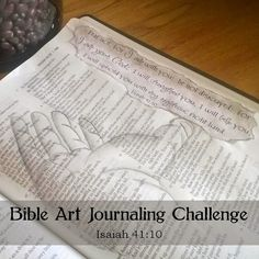 Upheld By His Righteous Right Hand ~ Bible Art Journaling Challenge: Isaiah 41:10