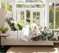 Poppy Botanical Reversible Duvet Cover & Sham