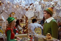 can you name the christmas movie from the distorted scene elf christmas decorations elf decorations - Elf Christmas Decorations