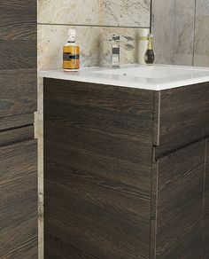 Rise - Rise in stunning Mali Oak, available as wall hung or floorstanding bathroom furniture.