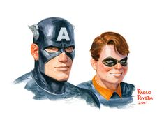 Cap and Bucky by Paolo Rivera
