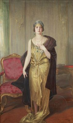Kraljica Marija Karađorđević, 1927. Збирка Галерије Матице српске  Аkademizam — Paja Jovanović i Uroš Predić