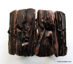 Armbånd med elastik. Bracelet. Friendly plastic. Karin Schmidt, Friendly Plastic, Bangles, Bracelet, Chocolate, Jewelry, Art, Bracelets, Art Background
