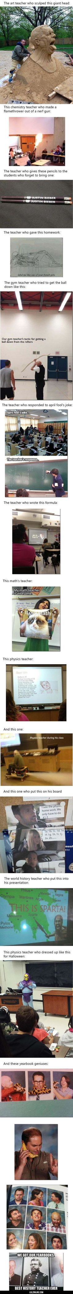 Teachers that go above and beyond the call of duty… #lol #haha #funny