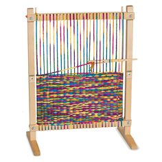 Melissa and Doug Wooden Multi-Craft Weaving Loom (Arts and Crafts, Extra-Large Frame, Develops Creativity and Motor Skills, H x W x L) *** Find out more about the great product at the image link. (This is an affiliate link) Yarn Crafts, Sewing Crafts, Diy Crafts, Stick Crafts, Fabric Crafts, Craft Projects, Sewing Projects, Project Ideas, How To Make Scarf