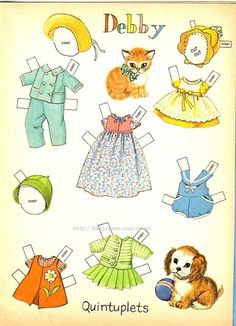 CUTE QUINTUPLETS Paper Dolls - Whitman Publishing Company, 1964: