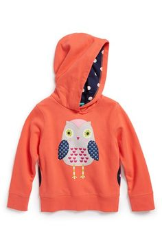 Mini Boden Appliqué Pullover Hoodie (Toddler Girls, Little Girls & Big Girls) available at #Nordstrom