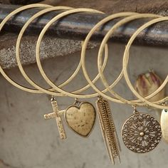www.Lizzielane.com Tutti and Co Gold Heart Bangle Now £10 http://www.lizzielane.com/product/tutti-co-gold-heart-bangle/