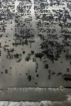 Satellite View of New Orleans Flood