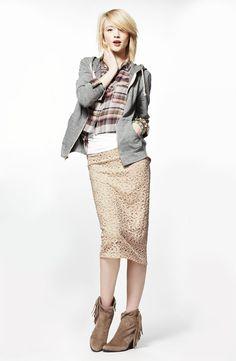 Long skirt, short jacket