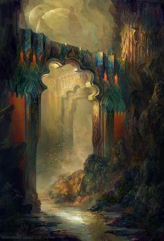 Rocks Of Light by SnowSkadi / olokosmon / pont / arche / montagnes