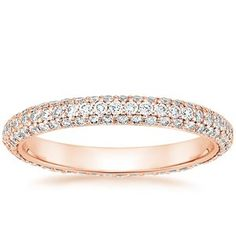 14K Rose Gold Allure Eternity Diamond Ring, top view