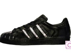 Women's Adidas Original Superstar Black with SWAROVSKI®️️ Xirius Rose Crystals - Custom Adidas - Swarovski Superstar - Custom Shoe - Gift Mother Day Gifts, Gifts For Mom, Perfect Gift For Mom, Custom Shoes, Adidas Women, Superstar, Adidas Originals, Adidas Sneakers, Trending Outfits