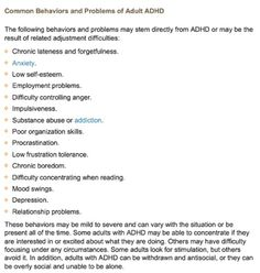 dating with adhd disorder A diagnosis of adhd many professionals find it helpful to review old report cards and other school records dating attention-deficit hyperactivity disorder.