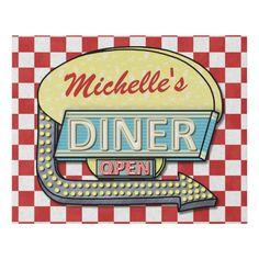 Vintage Diner, Retro Diner, Vintage Restaurant, Vintage Signs, Vintage Ads, Vintage Kitchen, Vintage Posters, Diner Aesthetic, Red Aesthetic