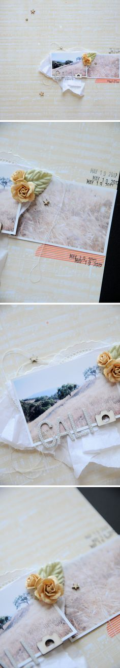 I love the simplicity and the little ribbons. The date stamp makes it