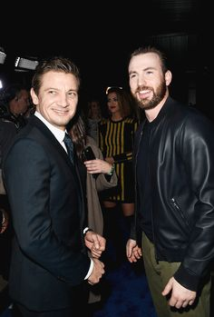 Jeremy Renner and Chris Evans attend the 2017 DIRECTV NOW Super Saturday Night Concert at Club Nomadic on February 4, 2017 in Houston, Texas.