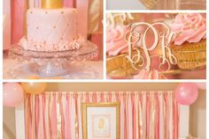 Pink & Gold Princess Themed Birthday Party