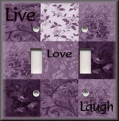 purple switchplates | Home & Garden > Home Improvement > Electrical & Solar > Switch Plates ...