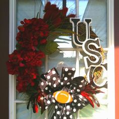 Carolina Gamecocks football wreath
