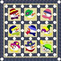Let It Snow-Man! Quilt BOM - Crazy Lady Quilt Designs