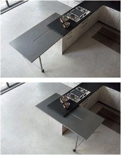 Stosa Mood. La cucina moderna che disegna lo spazio unendo kitchen ...
