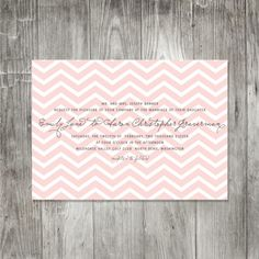 Hmmm, chevron invitation? Will I regret using the style fad in ten years, or will I not even care?