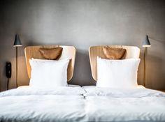 Hotel SP34 copenhague tête de lit dossier de chaise idée ingénieuse design et chic