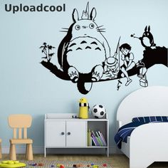 Uploadcool _ The New Sales Models Of Children Room Decorative Stickers Stickers Totoro Removable Waterproof Custom Sticker -- Learn more by visiting the image link.