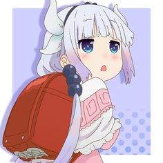 kobayashi-san chi no maid dragon - Kanna Anime Chibi, Kawaii Anime, Anime Art, Miss Kobayashi's Dragon Maid, Dragon Girl, Otaku, Aho Girl, Kanna Kamui, Kobayashi San Chi No Maid Dragon