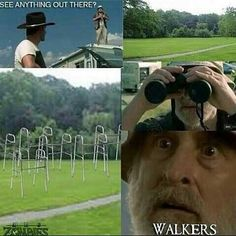 "What Dale really saw: | 46 Things You'll Only Find Funny If You Watch ""The Walking Dead"""