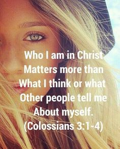 Colosossians 3:1-4 Hope some people read this and get the hint been saying this for a long time my life is between me and God!!!!!!