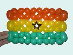 Ghana Flag Balloon Twisting Design