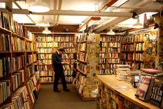 The basement at Harvard Bookstore