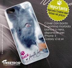 iPhone personalized cover with rubber edge