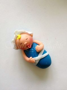 Sleeping baby tutorial - by StarryDelights @ CakesDecor.com - cake decorating website