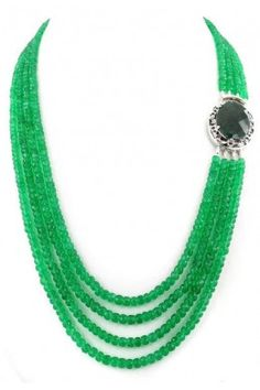 Eye catching Emerald and Ruby designer gemstone necklace on 101Jewels