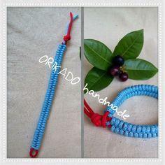 Blue Cord Bracelet, handmade, by me.. ;)