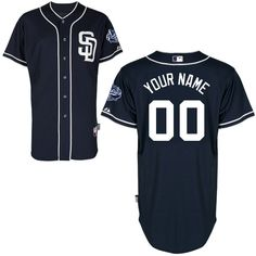 95b76b36844 San Diego Padres Authentic Personalized 2012 Alternate 1 Cool Base Jersey  Matt Kemp