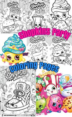 Shopkins Birthday party ideas and shopkins coloring pages for kids.DIY Craft ideas for kids.