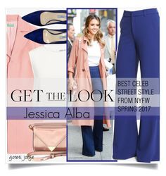 """""""Jessica Alba - Get the look"""" by goreti ❤ liked on Polyvore featuring Finders Keepers, Alexander Wang, Prada, Alice + Olivia, GetTheLook, NYFW and CelebrityStyle"""